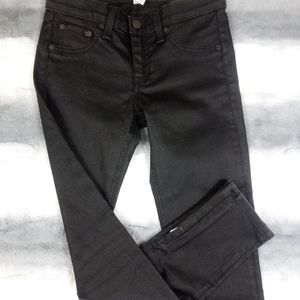 Rag & Bone Zippered Ankle Coated Ankle Jeans 26